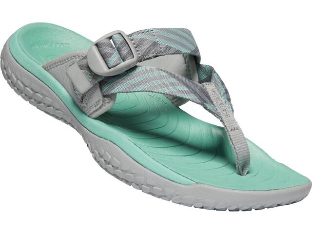 Keen Solr Toe Post Sandals Women light gray/ocean wave